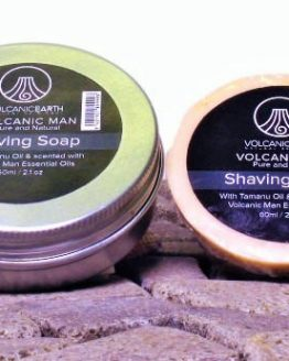 organic shaving soap volcanic earth