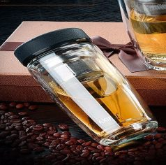 Eco Friendly Sustainable DOUBLE WALL Glass Drink Bottle