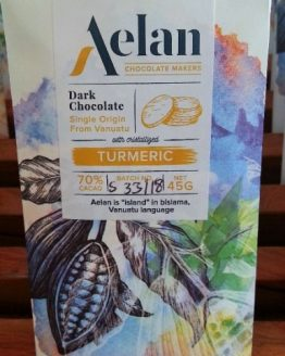 Shop Buy Organic Aelan Dark Chocolate with Crystallised Turmeric