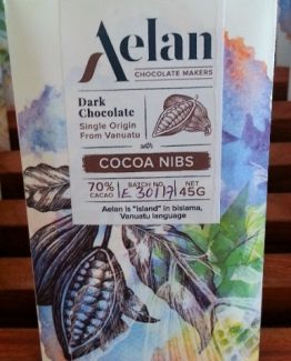 Buy Aelan Chocolate with Cocoa Nibs Vanuatu Artisan Chocolate
