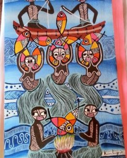 shop Traditional Art by Belinda Inspired by the way of living in Vanuatu