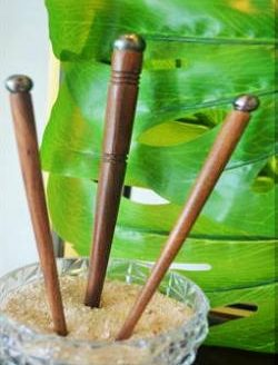 Luxury Tahitian Pearl Eco Friendly Wooden Hair Stick