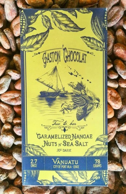 Gaston Chocolat Caramelized Nangai Nuts and Sea Salt