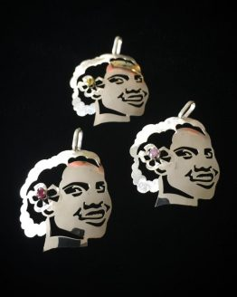 Gorgeous Melanesian Girl with Cubic Zirconia Hair Stud Pendant