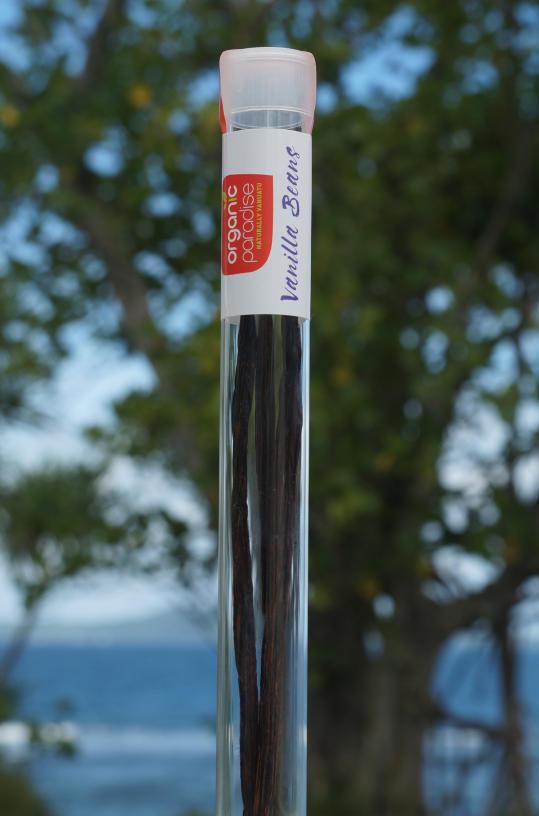 organic vanilla glass tube