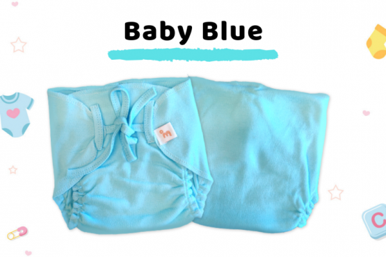 Coming Soon - Organic Cotton Nappies - Pack of 3 - Blue