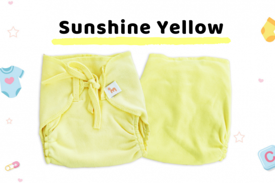 Coming Soon - Organic Cotton Nappies - Pack of 3 - Yellow