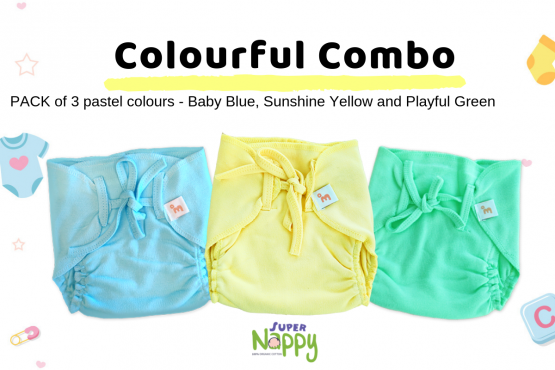 Coming Soon - Organic Cotton Nappies - Pack of 3